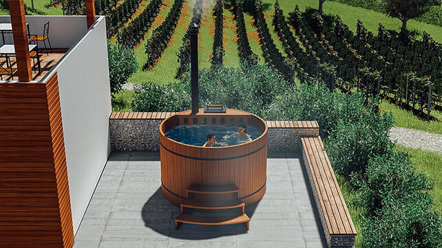 Resilient Plan B Wood fired hot tub
